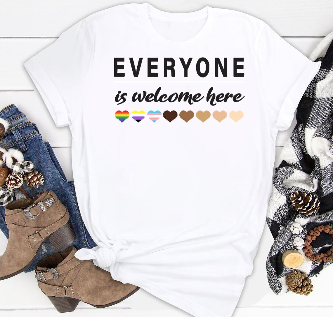 everyone is welcome here all are welcome here classic shirt