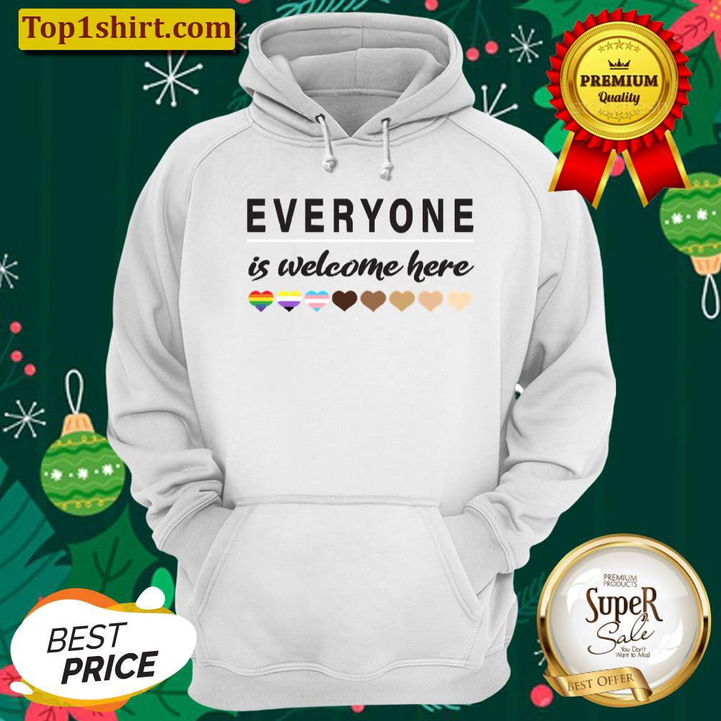 everyone is welcome here all are welcome here unisex hoodie
