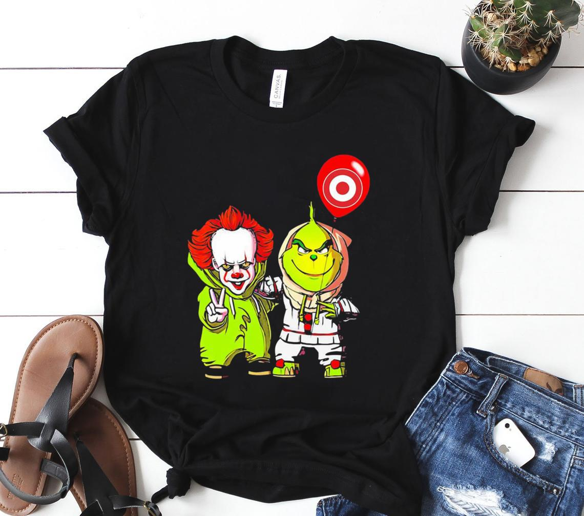 friends pennywise and the grinch balloon target logo classic shirt