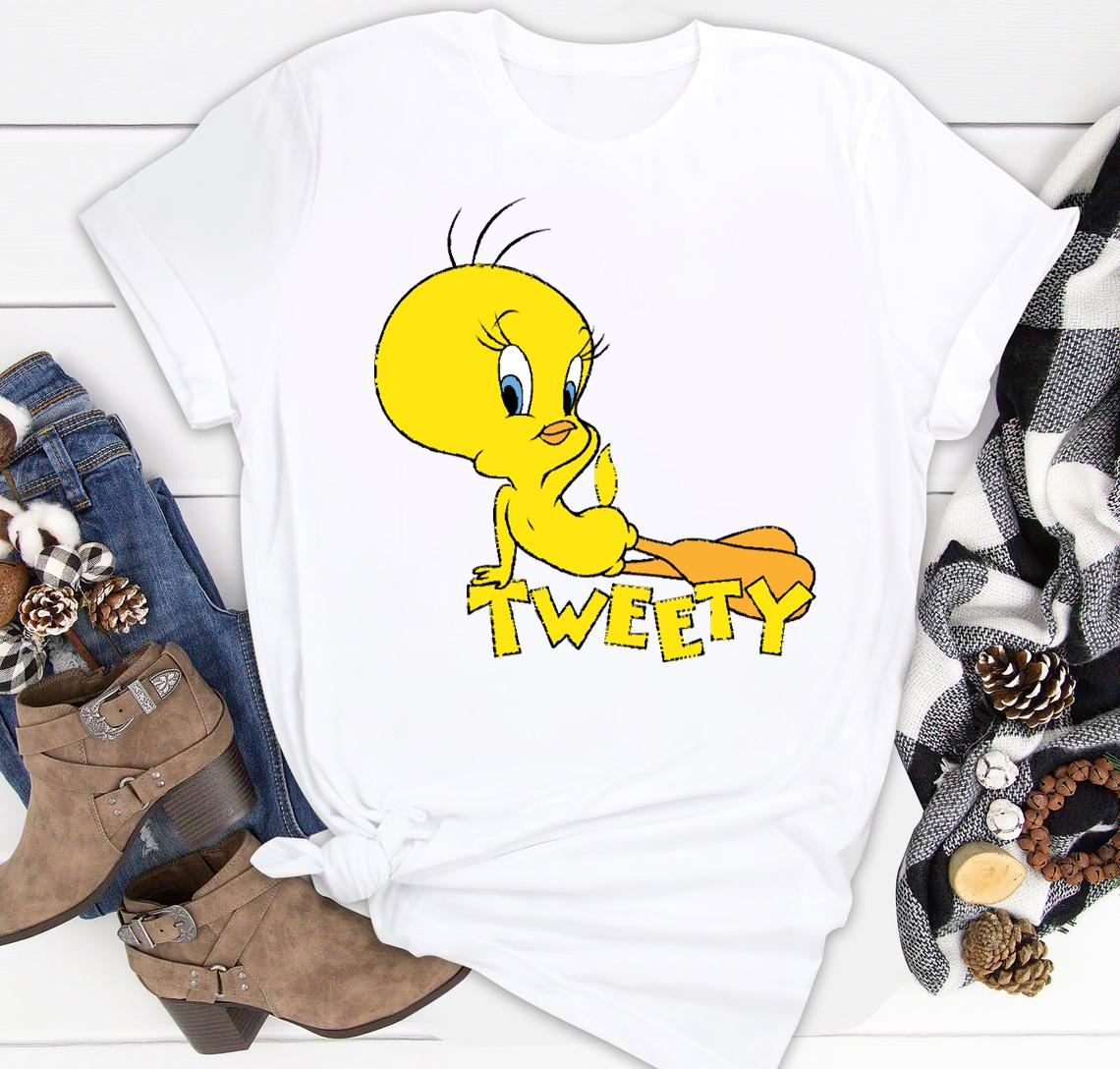 looney tunes tweety bird pose classic shirt