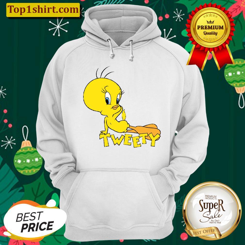 looney tunes tweety bird pose unisex hoodie