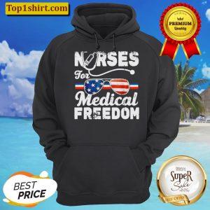 nurses for medical freedom American flag Hoodie