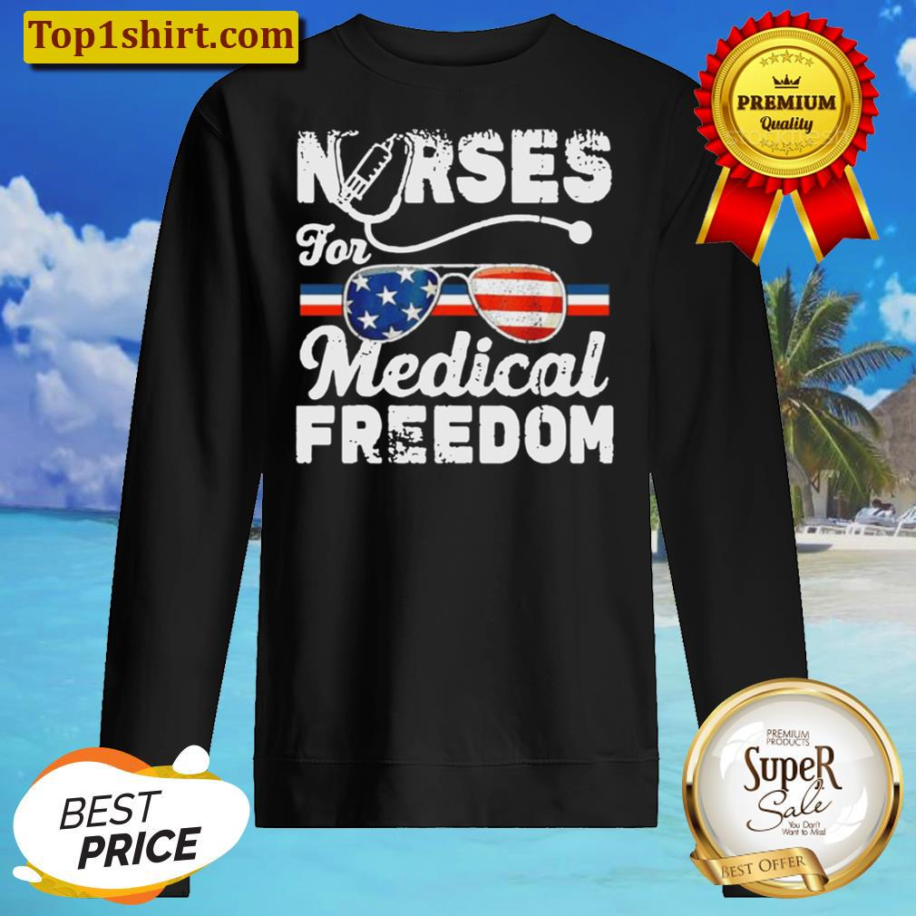 nurses for medical freedom American flag Sweater