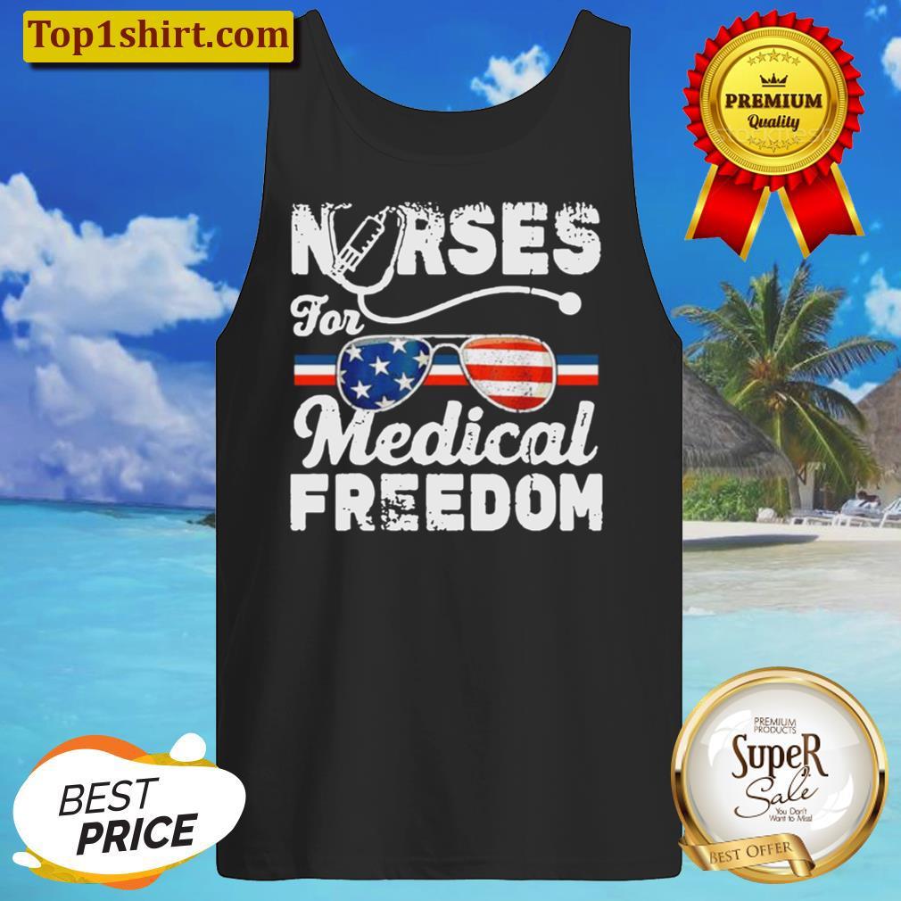 nurses for medical freedom American flag Tank Top