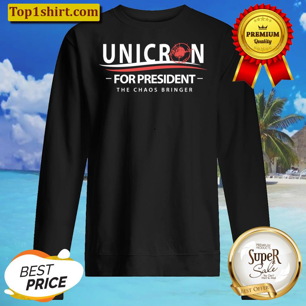 unicron for president the caos bringer hoodie unisex sweater