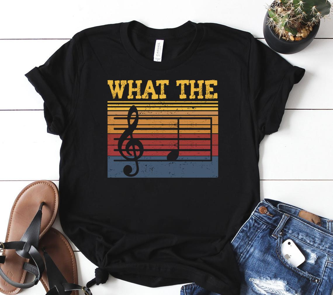 What The F Musical Note, Funny Musician Men And Women Shirt Classic T-shirt