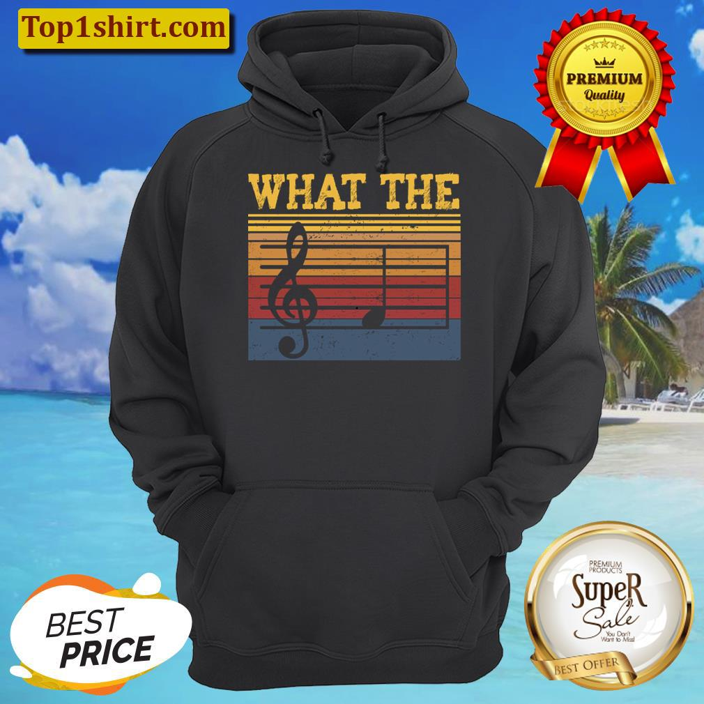 What The F Musical Note, Funny Musician Men And Women Shirt Unisex Hoodie