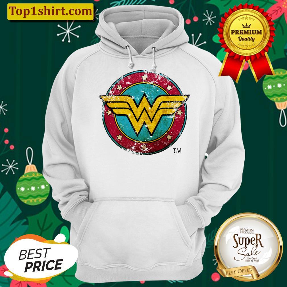 wonder woman logo distressed unisex hoodie