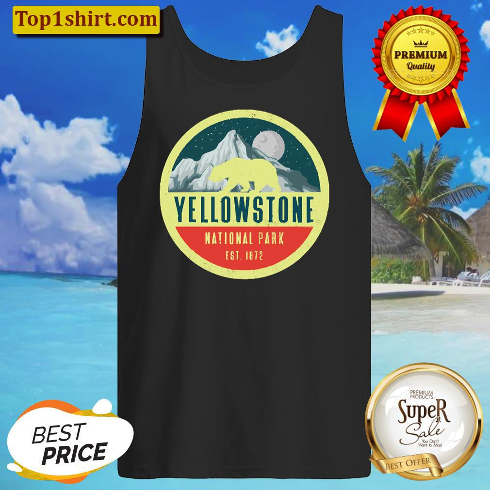 yellowstone national park adventure grizzly bear tanktop