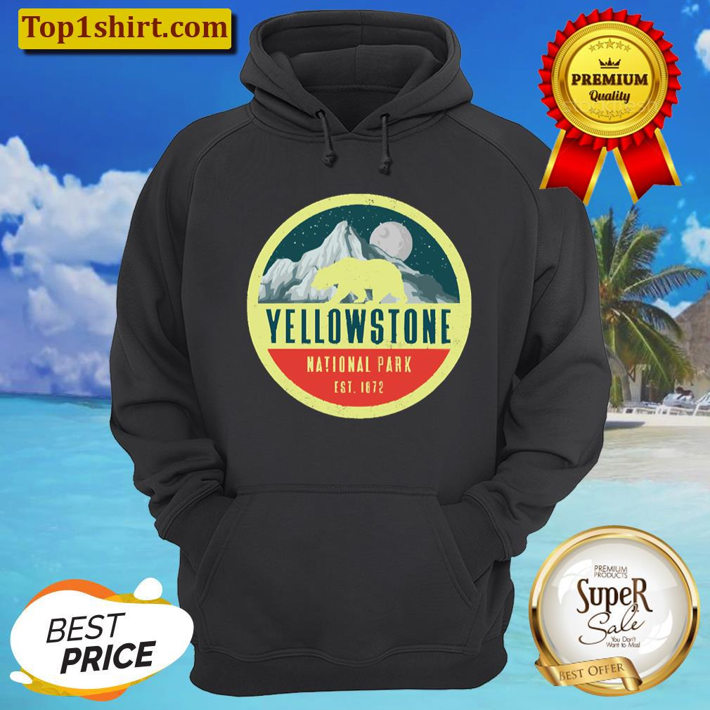 yellowstone national park adventure grizzly bear unisex hoodie