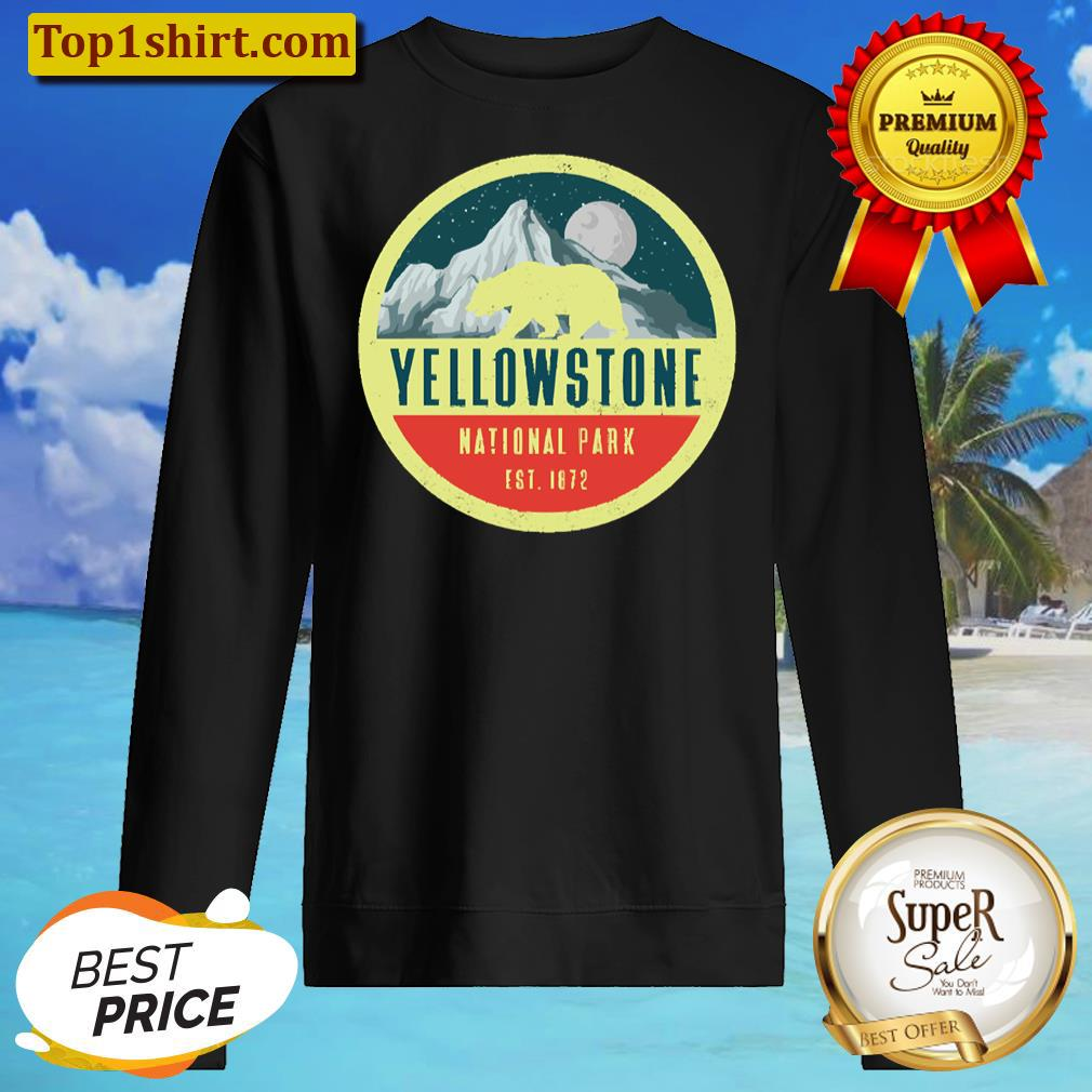 yellowstone national park adventure grizzly bear unisex sweater