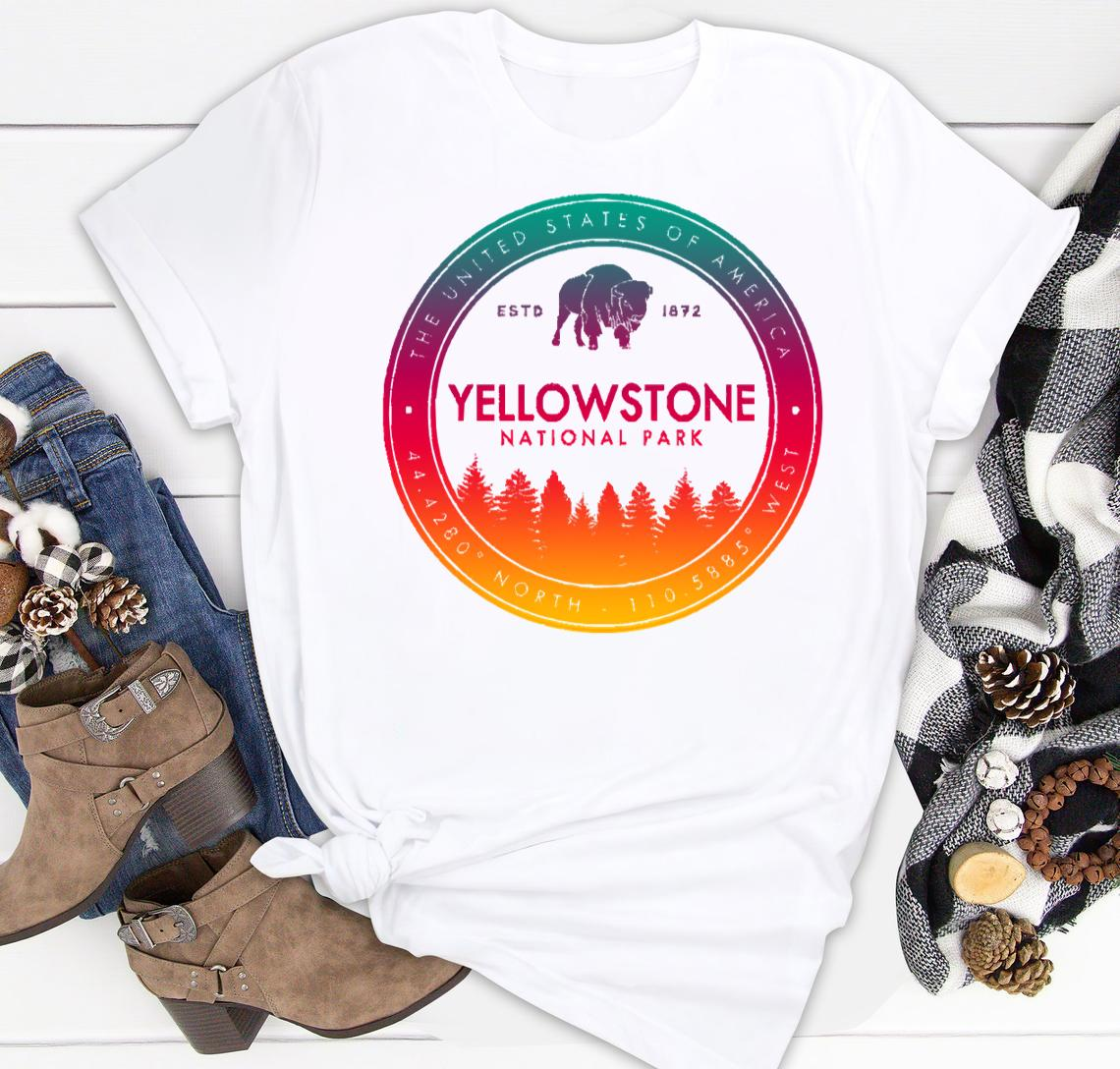 yellowstone national park vintage emblem classic shirt