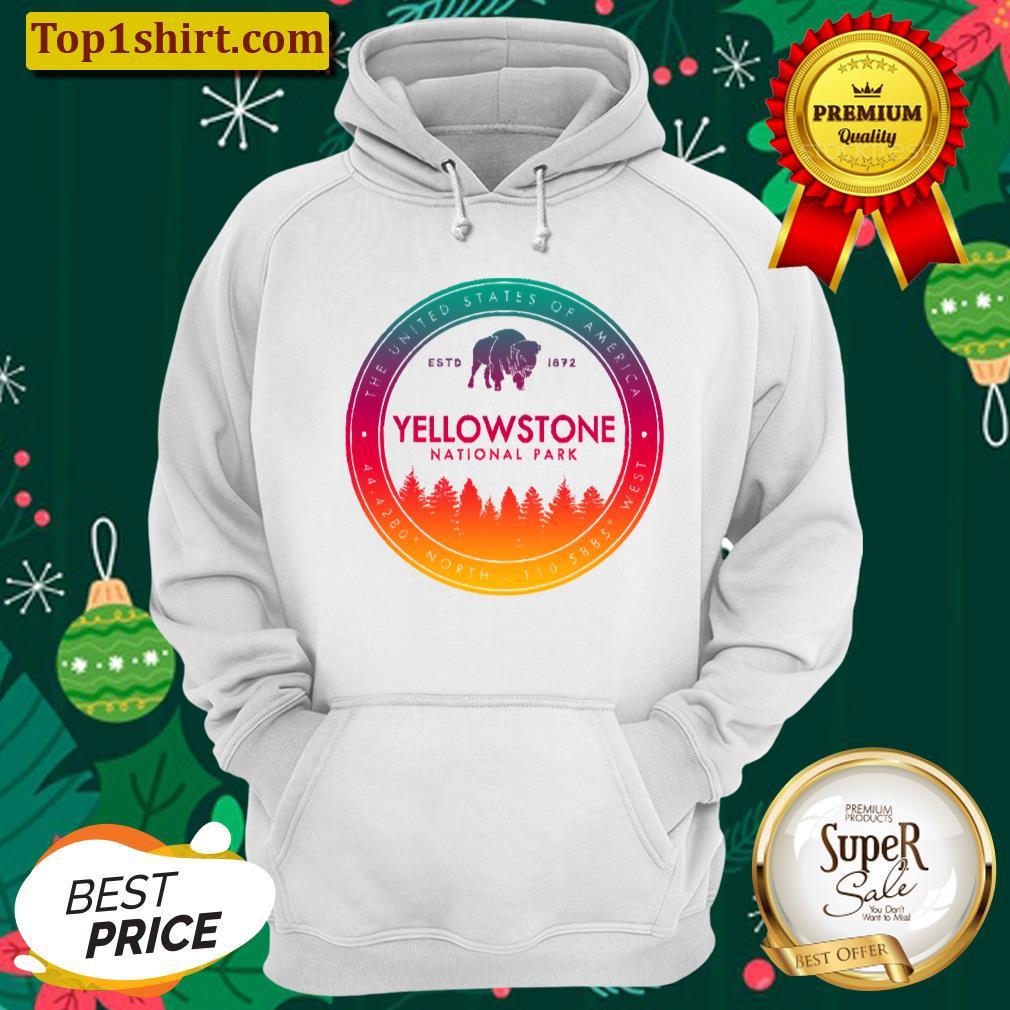 yellowstone national park vintage emblem unisex hoodie