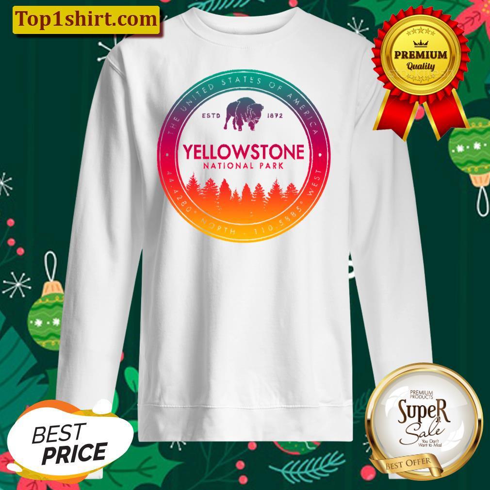 yellowstone national park vintage emblem unisex sweater